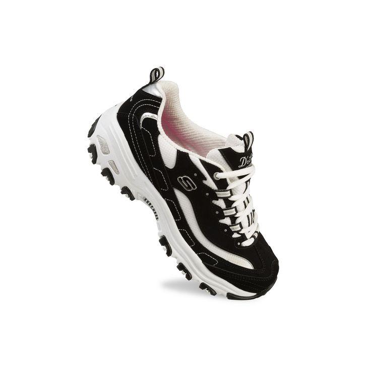 Skechers D'Lites Biggest Fan Women's Athletic Shoes, Size: 7.5, Grey (Charcoal)