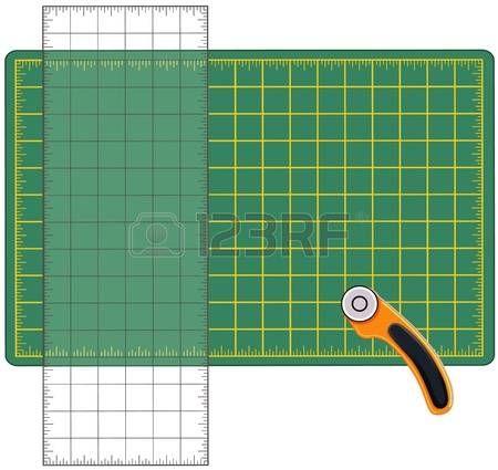 Self Healing Cutting Mat, righello trasparente, Rotary Strumento di taglio a lama, per la misurazione e il taglio di materiali per le arti, artigianato, cucito, quilt, applique, patchwork, fai da te progetti. photo