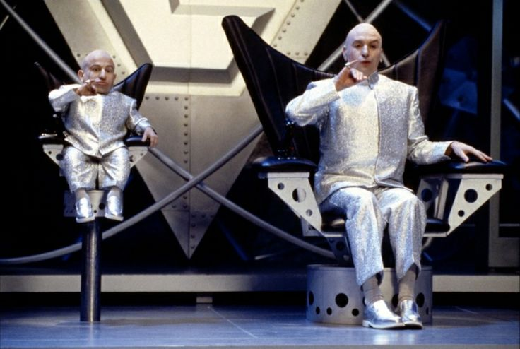 Dr. Evil and Mini Me from the second Austin Powers movie.