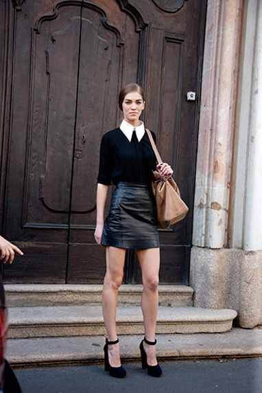 Street Style Look From The Italian Fashion Capital Milan Spring Summer 2013 Streetstyle