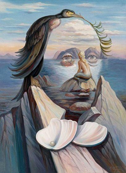 HANS CHRISTIAN ANDERSEN: Oleg Shuplyak utiliza el cuento de La sirenita para crear la ilusión óptica de Hans Christian Andersen.