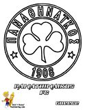 Superleague Greece Panathinaikos FC Soccer Printables For Kids at YesColoring.com  Slide Crayon!