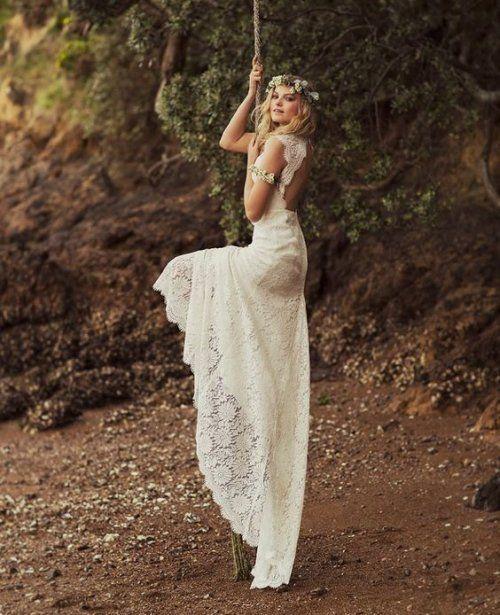 Open Back Y Boho Chic Summer Wedding Dress Rue De Seine