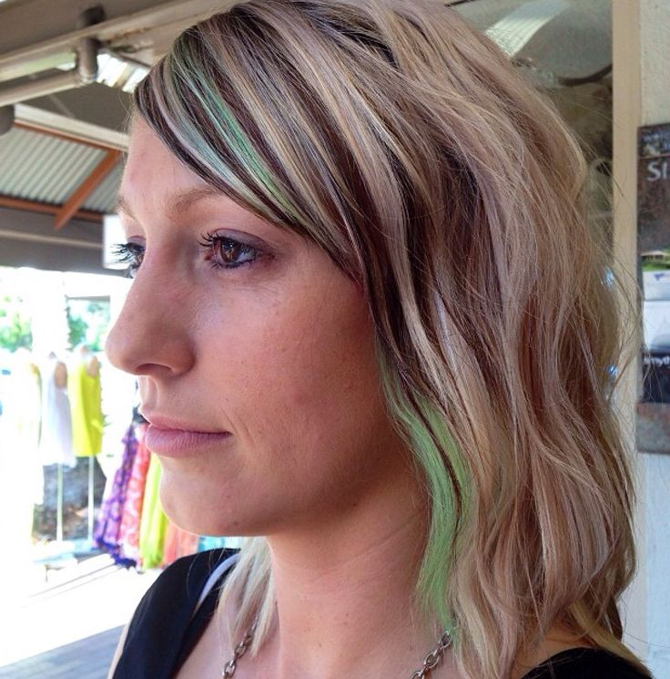 Spearmint @ Smyths Inc #greenhair #pastelhair #blonde #elumen #goldwell