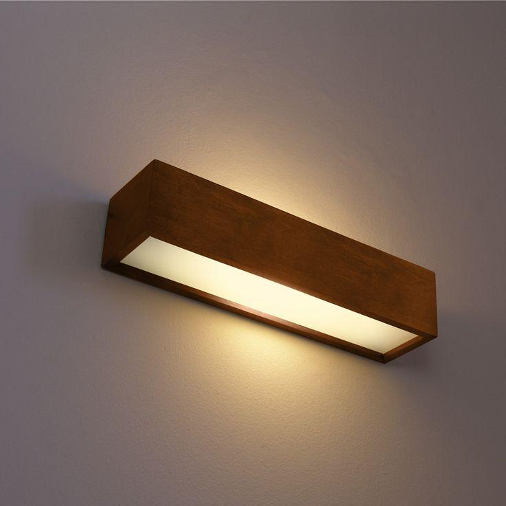 Rustikale Wandleuchte Alma 1159K43102 aus Holz braun Wandlampe Lampe Leuchte   eBay