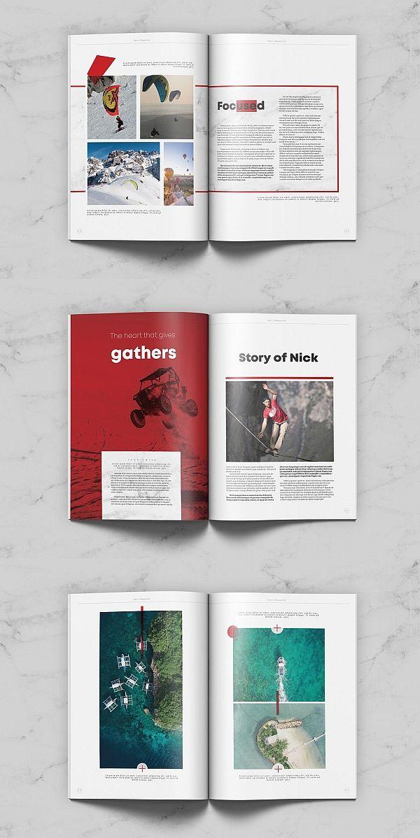 Sport Magazine Book Design Layout Page Layout Design