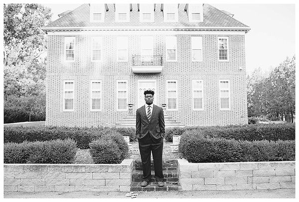 Cathedral High School Indianapolis Senior Guy Session, dressed in a suit