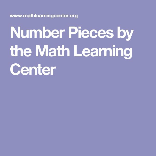 Number Pieces by the Math Learning Center