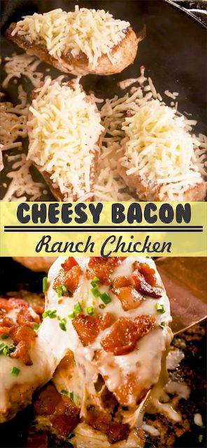 Cheesy Bacon Ranch Chicken | Floats CO #chicken #c…