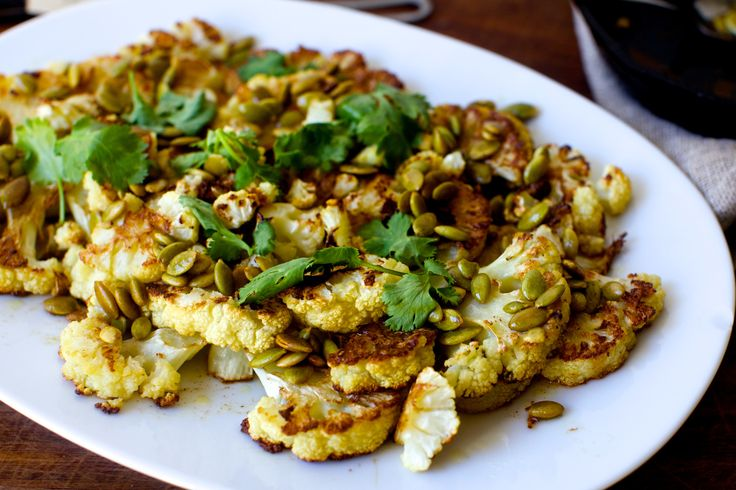 roasted cauliflower with pumpkin seeds, brown butter and lime | smittenkitchen.com