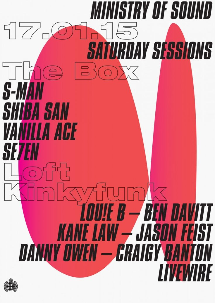 Ministry of Sound – Event Posters (unrealised concept) – Haw-lin Services