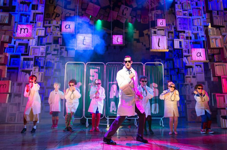 I love how the lighting hits the different objects on stage and the colours used. Matilda, West End.