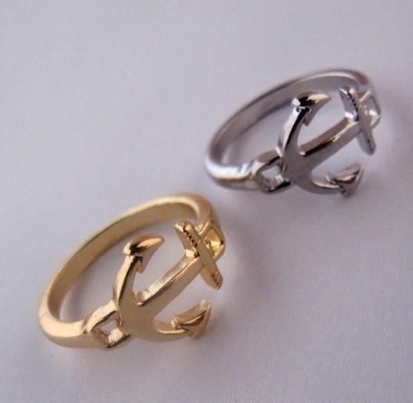Free Shipping, R115 ,New Vintage Anchor Alloy Finger Rings,Fashion Jewelry Wholesale