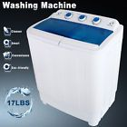 Portable Washing Machine 17LBS Mini Compact Twin Tub Laundry Washer Spin Dryer