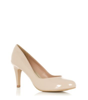 Wide Fit Nude Patent Court Shoes E17.99