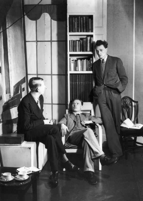 W.H. Auden, Christopher Isherwood, Stephen Spender.  1937 by Howard Coster
