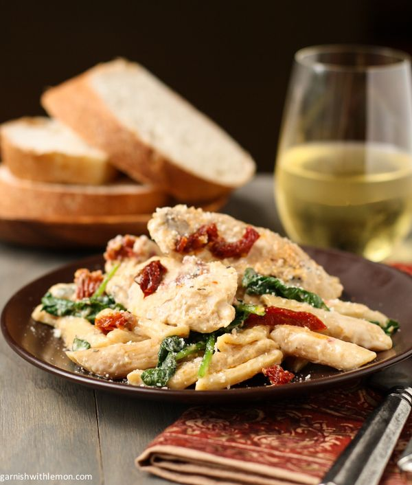 Penne with Chicken, Sun-Dried Tomatoes and Spinach (And a Giveaway ...