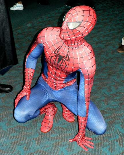 Authentic Spiderman Costume. Rather than knights in shining armor displayed around the house, I would have full displayed mannequins of outfits like this.