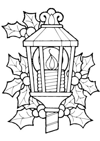 ornament coloring pages candle stick - photo#20