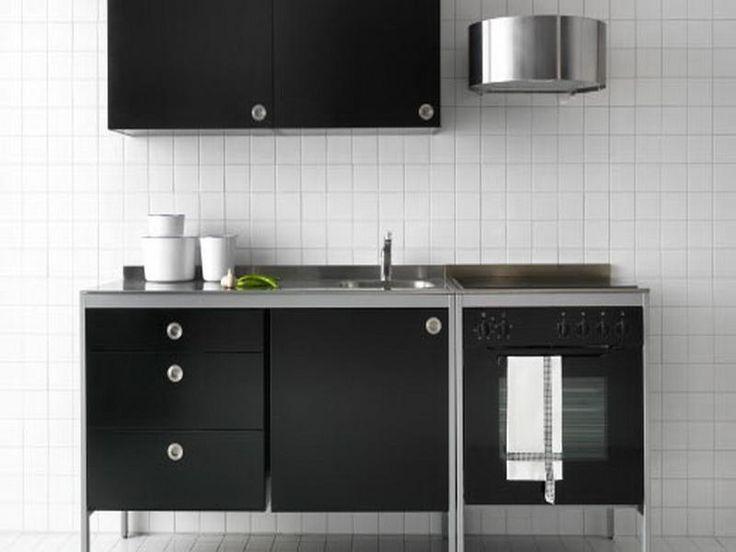 black ikea free standing kitchen cabinets