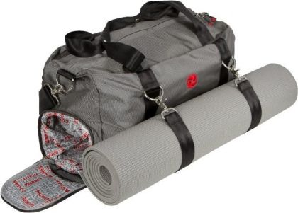 This Luxx Gym Bag Does It All Attach A Yoga Mat To The