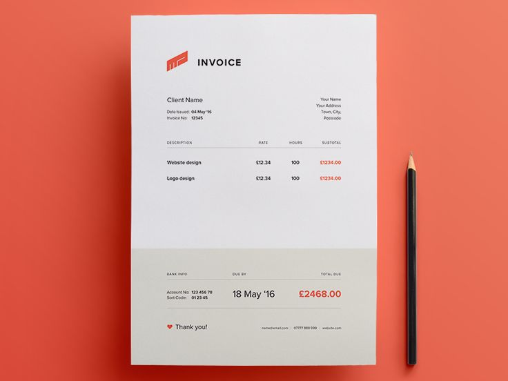 53 best images about Form on Pinterest Proposals, Stationery and - freelance invoice templates
