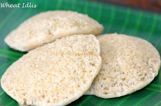 Wheat Idlis / Broken Wheat Idlis / Cracked Wheat Idlis