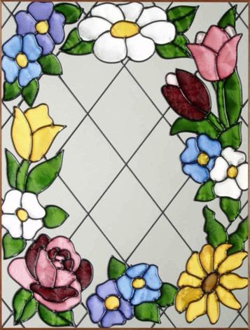 stained glass flowers and butterflies - Google Search