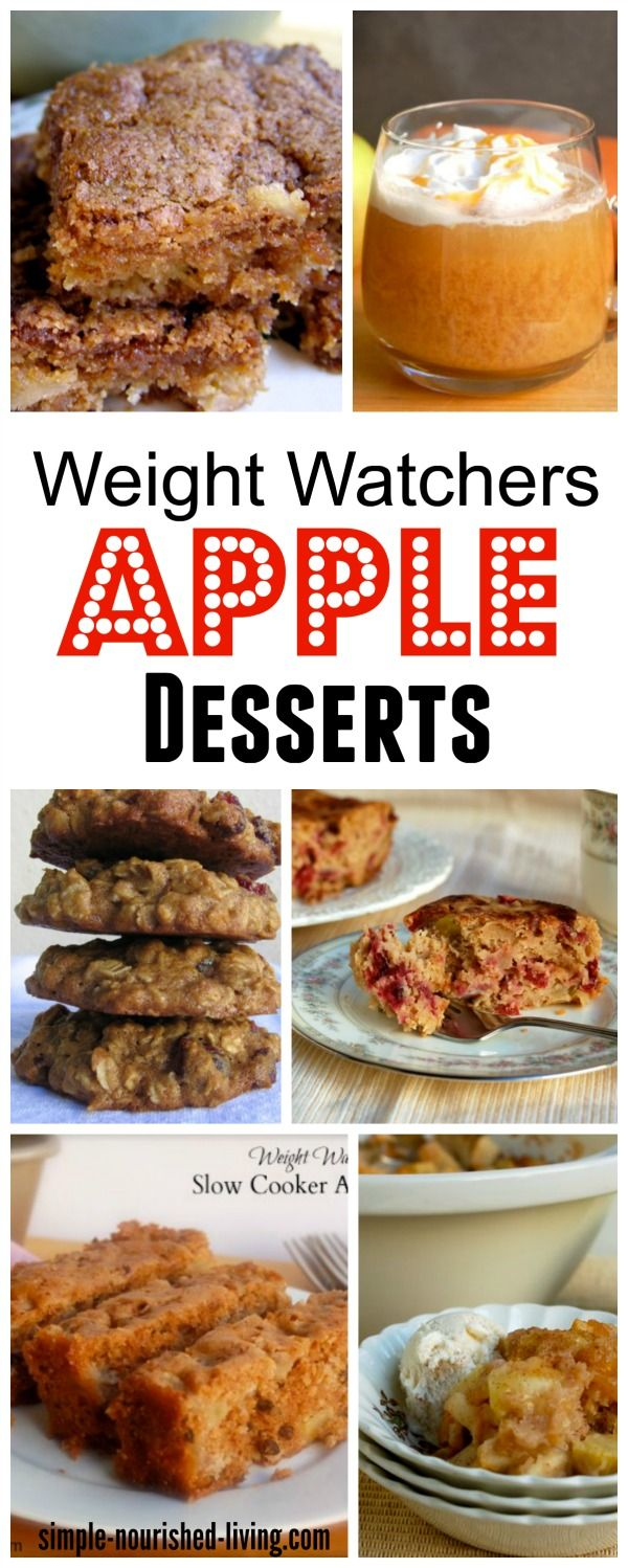 Weight Watchers Apple Dessert Recipes - crisps, cobblers, cider, baked apples, pie, cookies, cakes, brownies, bars, strudel, tarts and more - all with Points Plus Values http://simple-nourished-living.com/2015/10/weight-watchers-apple-dessert-recipes-with-points-plus-values/