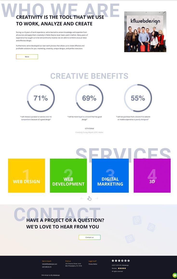 Creative Digital Agency Website Design Web Design Agency Website Design Fun Website Design
