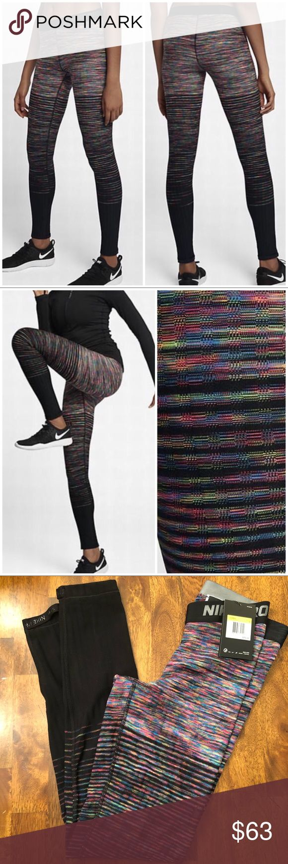 NIKE PRO HYPERWARM Women's Training Tights 856228 NWT multi color (406)▪️matching top available in my closet Nike Pants Leggings