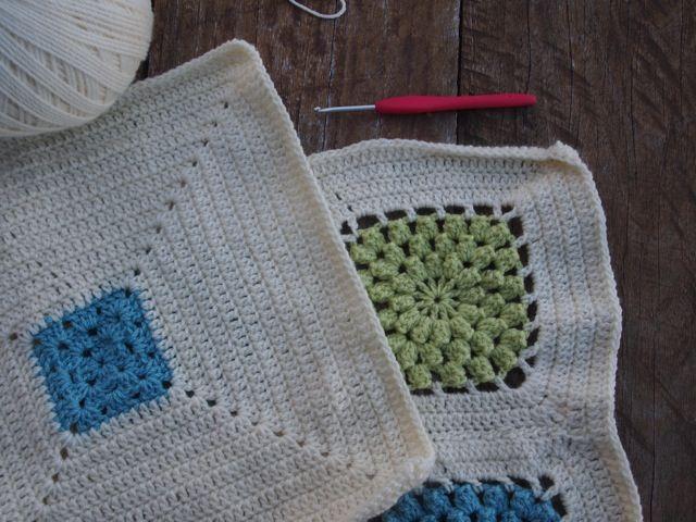 Popcorn crochet cushion making
