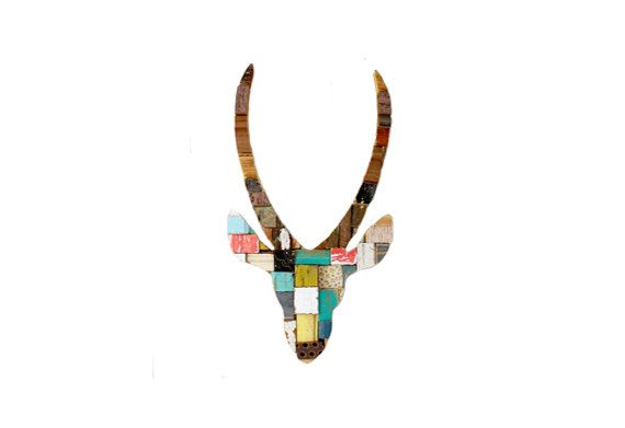 Springbok Blocks Multicolor Art Recycled by PhilosophieBySophie