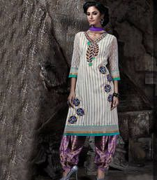 Buy multicolor embroidered bhagalpuri print patialas pants with dupatta patialas-pant online