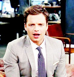 "Pin for Later: 25 Types of Sebastian Stan Smiles That Will Instantly Brighten Your Day This ""OMG Really?!"" Smile"