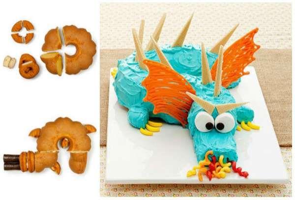 Drachenkuchen mit einer Savarinform. 14 wunderbare Geburtstagstorten …   – Astuces cuisine