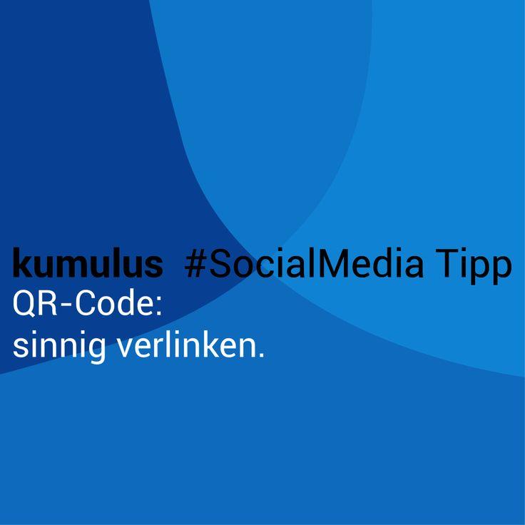 QR-Code sinnig verlinken! – kumulus #SocialMedia Tipp