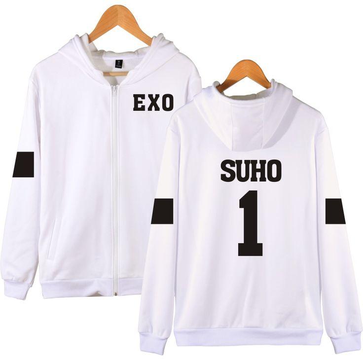 >> Click to Buy << Harajuku EXO Sweatshirt Women Hoodies Women Brand Designer White Sweatshirt Grey And Navy Blue Kpop Style Good Quality EXO Print #Affiliate
