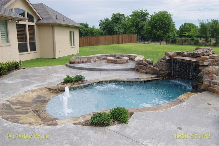 1000 images about small inground pool spa ideas on for Beach entry swimming pool designs
