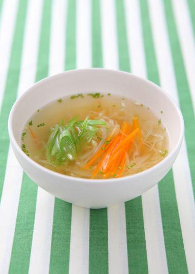 野菜のコンソメスープ のレシピ・作り方 │ABCクッキングスタジオのレシピ | 料理教室・スクールならABCクッキングスタジオ