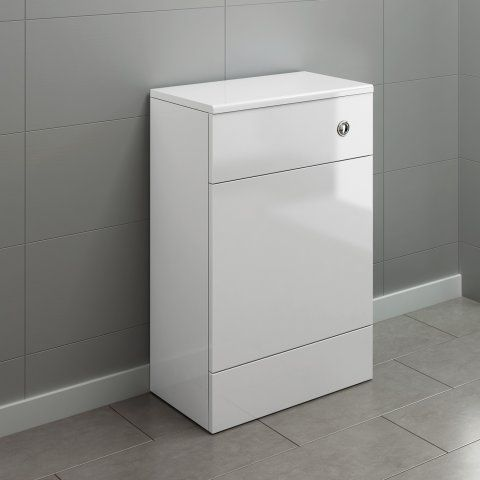 500mm Harper Gloss White Back To Wall Toilet Unit [PT-MF2005] - £169.99 : Platinum Taps & Bathrooms