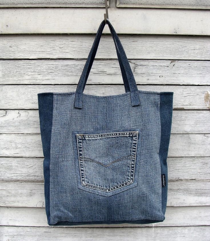 Big Denim Tote Bag #1 - upcycled vegan bag, jeans bag, shopper, made from recycled denim by Nudakillers on Etsy https://www.etsy.com/listing/224403644/big-denim-tote-bag-1-upcycled-vegan-bag