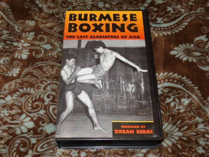 Burmese Boxing (VHS, 2002) Rare HTF OOP Paladin Press/Zoran Rebac Martial Arts!