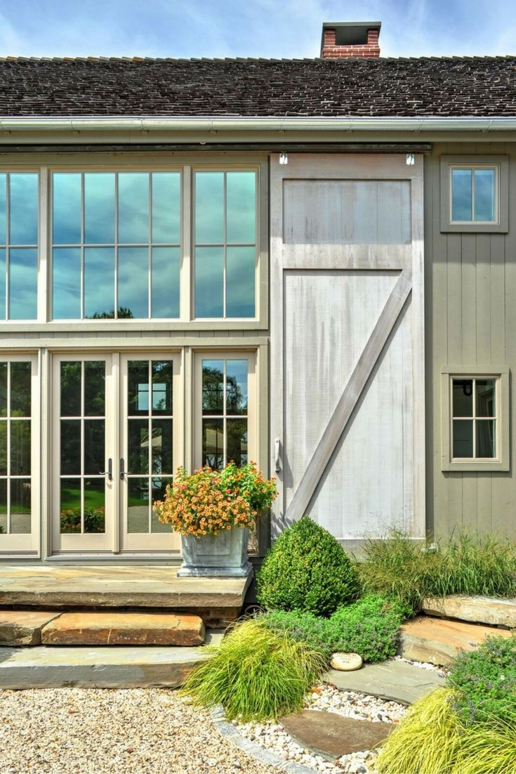 the southold barn house sliding barn doors front exterior visit to see more on this gorgeous. Black Bedroom Furniture Sets. Home Design Ideas