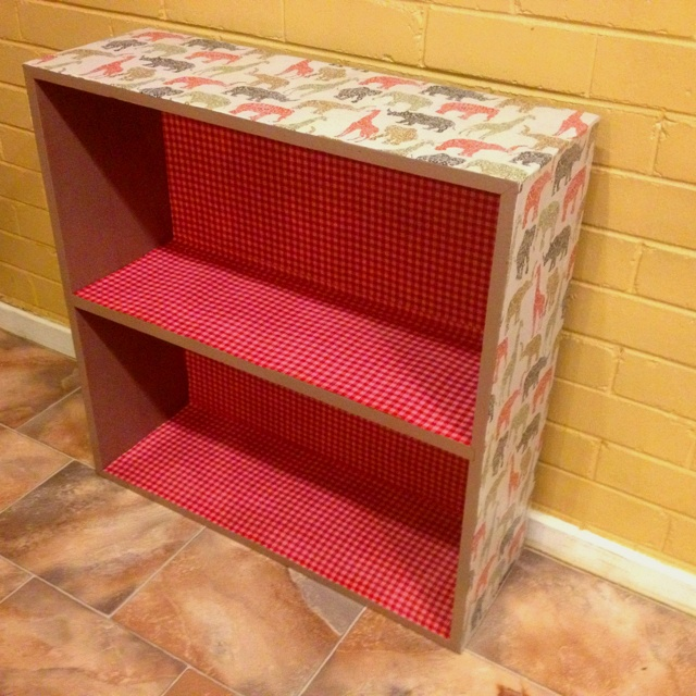 Decoupage Bookshelf For Annabel