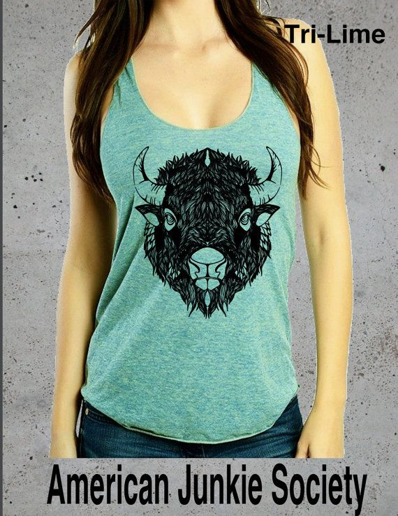 Buffalo Top Bison T-shirt Buffalo Shirt Women Graphic Tee American Apparel Women T shirt Christmas gifts for her gift ideas Hipster shirts