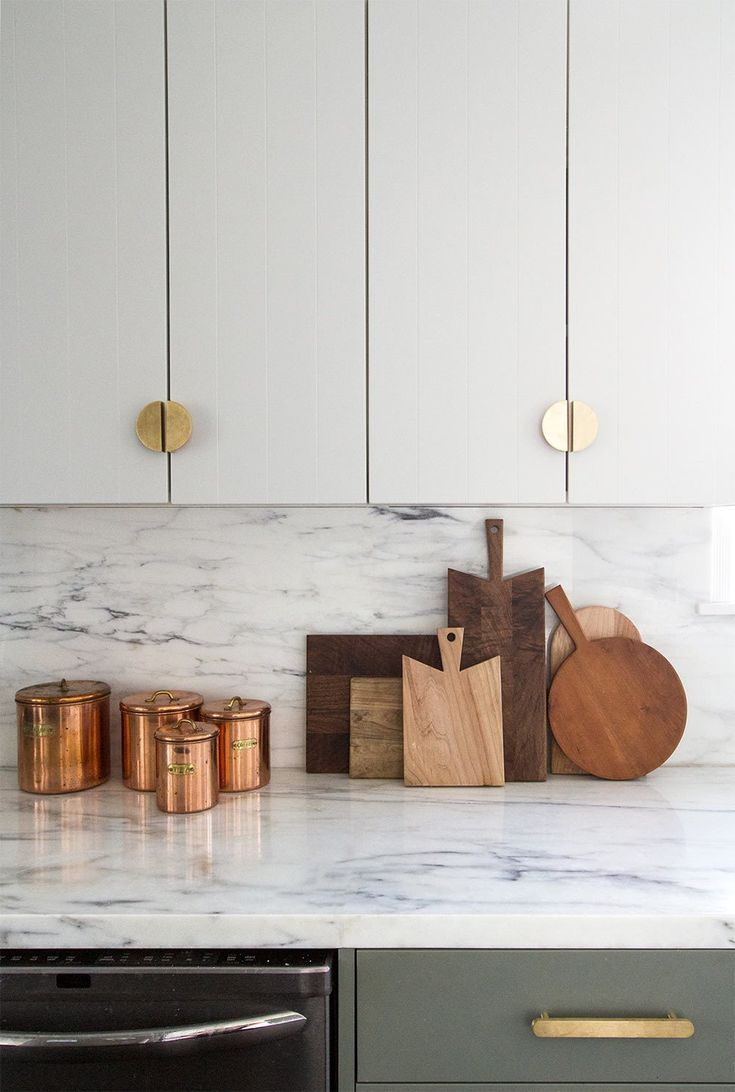 Find out my top five tips for creating a custom looking kitchen on a budget by using IKEA cabinets and custom door fronts like these beauties designed by Sarah Sherman Samuel for Semihandmade.