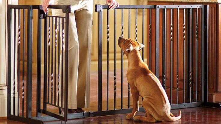 34-inch Freestanding Pet Barrier with Gate