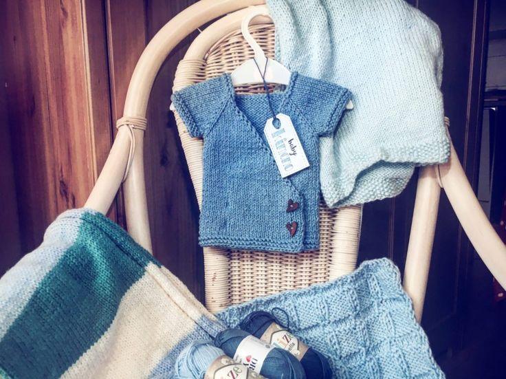 BABY KIMONO - KNITTING TUTORIAL BABY - KNITTING FOR BABY