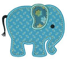 GG Designs Embroidery - Elephant Applique (Powered by CubeCart)